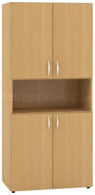 Kancelářská skříň OfficePlus 800x470x1780, dělené dveře, nika
