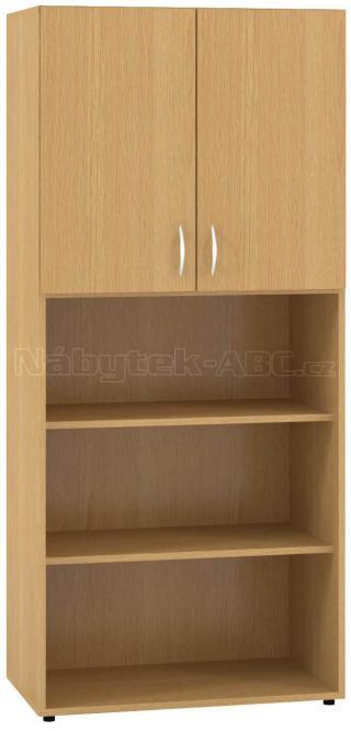 Kancelářská skříň OfficePlus 800x470x1780, dveře, nika