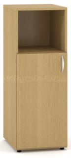 Kancelářská skříň OfficePlus 400x470x1063, dveře levé, nika