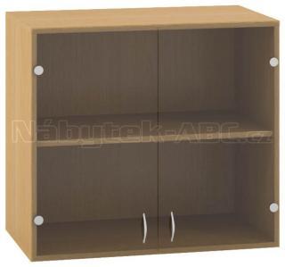 Kancelářská skříň OfficePlus 800x458x717, nástavec, dveře dvoukřídlé