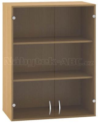 Kancelářská skříň OfficePlus 800x458x1045, nástavec, dveře dvoukřídlové