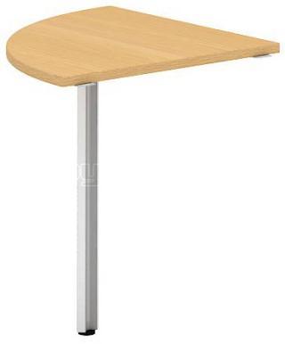 Přídavný stůl čtvrtkruh OfficePlus A, 800x800mm (přísed)