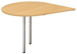 Přídavný stůl kapka OfficePlus A, 1200x1200mm (přísed levý)