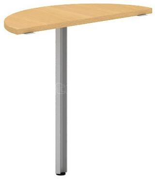 Přídavný stůl oblouk OfficePlus B, 800x350mm (přísed)