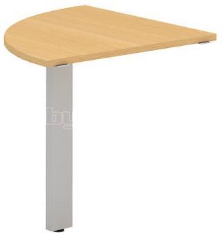 Přídavný stůl čtvrtkruh OfficePlus C, 800x800mm (přísed)