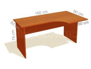 Kancelářský stůl STABIL, pravý, 160x90cm
