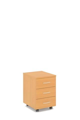 Kontejner STABIL - mobilní, 3 zásuvky