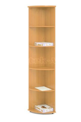 Kancelářská skříň rohová STABIL, 37,2x37,2x190cm