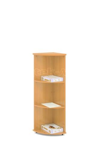 Kancelářská skříň rohová STABIL, 37,2x37,2x119,6cm