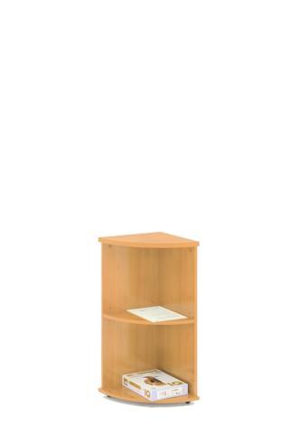 Kancelářská skříň rohová STABIL, 37,2x37,2x80cm