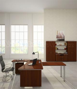 Kancelářský stůl LINE OFFICE, pravý 200x100x76,8cm