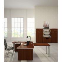 Kancelářský boční přístavný stůl LINE OFFICE, pravý, 90x55cm
