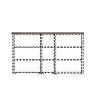 Dekorační horní obkladová deska LINE OFFICE, 207,4x42,9x3,8cm