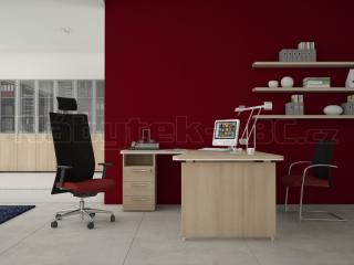 Skříň LINE OFFICE, levé skleněné dveře, 39,9x42,5x119,5cm