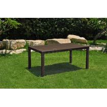 Zahradní plastový stůl MELODY, hnědý, 160,5x94,5cm