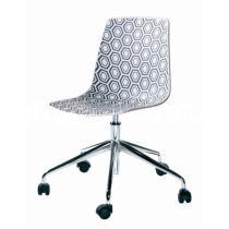 Židle AMFORA 5R, plast, chromovaný kříž