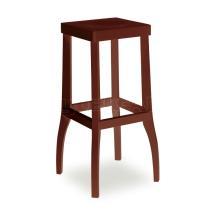 Židle barová DANIEL 371050, hladká, celodřevěná