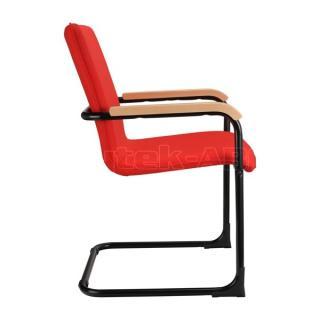 Jednací kancelářská židle SWING, dřevěné područky