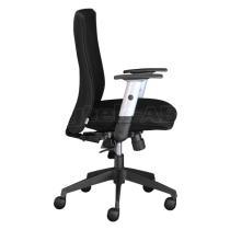 Kancelářská židle (křeslo) LEXA bez podhlavníku (síťový opěrák). Černý opěrák.