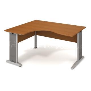 Kancelářský rohový stůl CROSS CE 2005 P, 160x75,5x120(60x80)cm