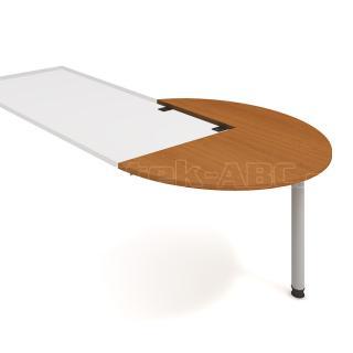 Kancelářský přídavný stůl CROSS, CP 22 P, Ø120x75,5x(60x80)cm