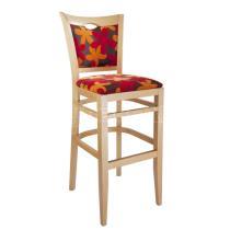 Židle barová SARA 363812, kůže