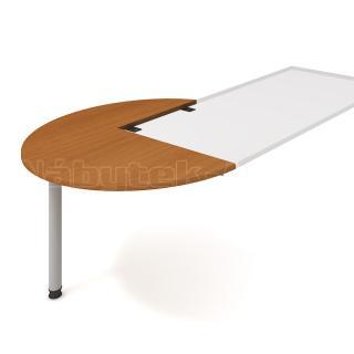 Kancelářský přídavný stůl FLEX, FP 22 L, Ø120x75,5x(80x60)cm
