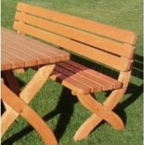 Zahradní lavice STRONG MASIV , borovice, lak, 180x51x80cm