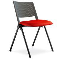 Jednací a konferenční židle GO! 115-N1, čalouněný sedák, plastový opěrák