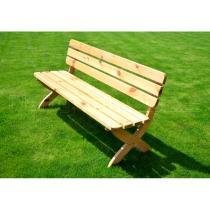 Zahradní lavice STRONG - FSC, borovice, barva přírodní, 150x51x80cm