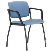 Jednací židle s područkami 2090 N ALINA, černá konstrukce