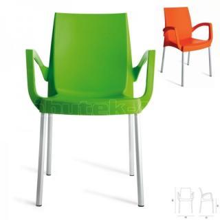 Plastovév křeslo BOULEVARD barva verde