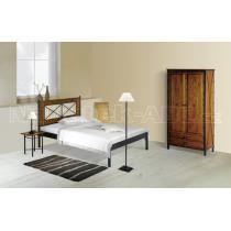 Kovová postel CHAMONIX 200x140 cm, smrk