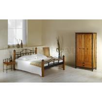 Kovová postel ALCATRAZ 200 x 180 cm