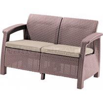 Zahradní sofa CORFU LOVE SEAT, cappuccino