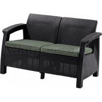 Zahradní sofa CORFU LOVE SEAT, hnědá