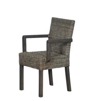 Ratanová židle s područkami, přírodní ratan Slimit