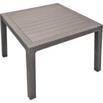 Zahradní plastový stůl MELODY QUARTED, cappuccino , 94x94x75 cm
