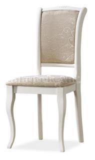 Jídelní čalouněná židle, OP-SC II, barva smetanově bílá