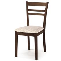 židle barva ořech,potah světlý