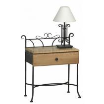 Noční stolek ALTEA se zásuvkou, dub, 51 x 34/69 cm