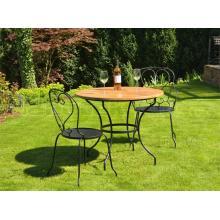 Kovový stůl MONTPELIER velký Ø 110 cm pro stolovou desku Ø 120 cm