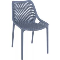 Zahradní židle plastová AIR, tmavě šedé