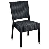 Zahradní židle ratanová MEZZA, černá