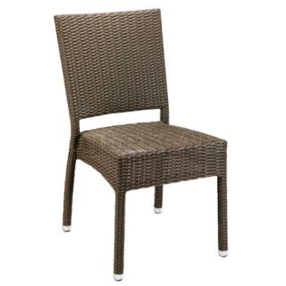 Zahradní židle ratanová MEZZA, světle hnědá