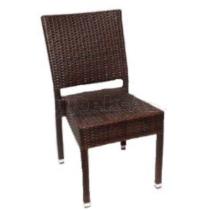 Zahradní židle ratanová MEZZA, hnědá