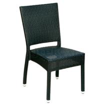 Zahradní židle ratanová MEZZA, hnědošedá