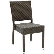 Zahradní židle ratanová MEZZA, šedá