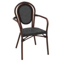 Zahradní ratanová židle LUCCA - A, područky