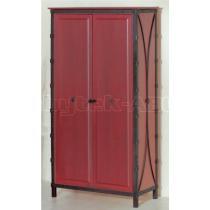 Šatní skříň dvoukřídlá s šatní tyčí a policemi, dub 53 x 200 x 106 cm